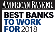 American Banker Best Bank to Work For Award 2018